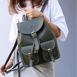 Load image into Gallery viewer, BPH009 Vintage casual Pu leather backpack school bagpack women