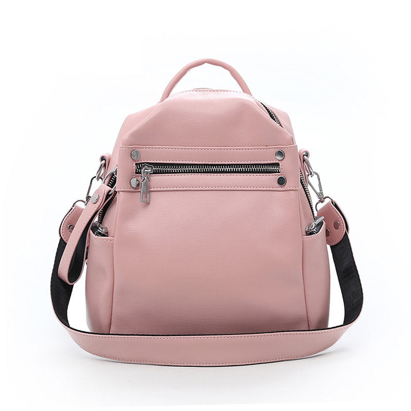 BPH011 Fashion travel school bag PU leather pink womens backpack purse