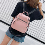 Load image into Gallery viewer, BPH011 Fashion travel school bag PU leather pink womens backpack purse