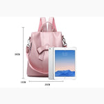 Load image into Gallery viewer, BPH014 Fashion casual pu leather bow design cute backpack pink for women