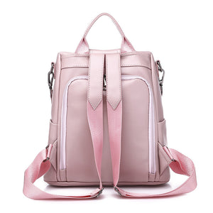 BPH014 Fashion casual pu leather bow design cute backpack pink for women