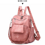 Load image into Gallery viewer, BPH017 Fashion pink pu leather back pack women casual backpack 2020