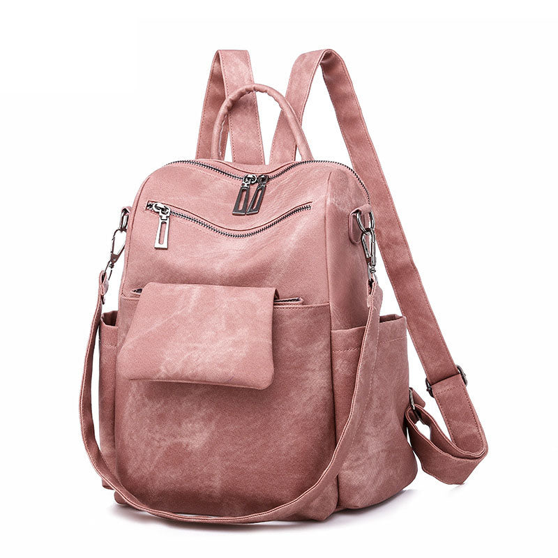 BPH017 Fashion pink pu leather back pack women casual backpack 2020