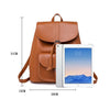 BPH019  Latest vintage soft pu leather drawstring backpack custom back pack for women