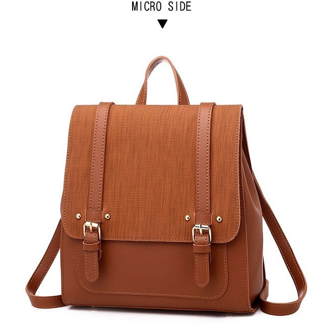 BPH020 Simple pu leather back pack fashion 2020 backpack bag women