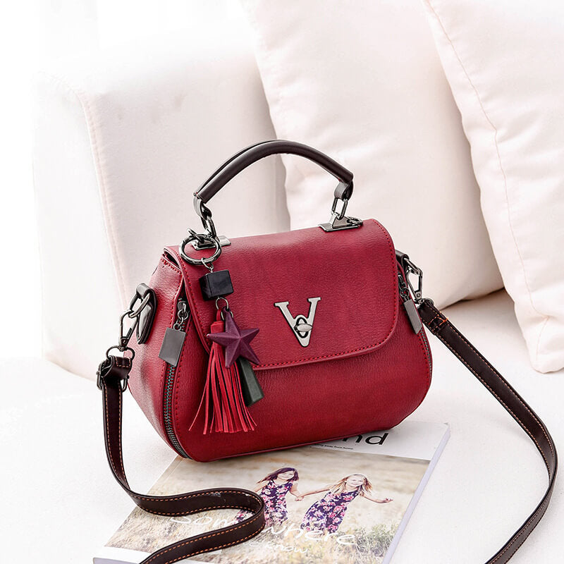 CB224 Factory direct luxury designer leather tassel shoulder handbag bag brand bags women handbags