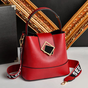 CB225 Best selling soft leather unique design ladies bucket shoulder bag fashion handbags for women