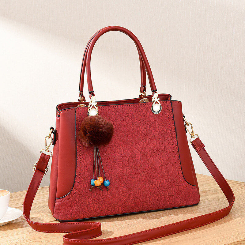 CB233 2020 Latest fashion flowers print design handbag bags high quality PU leather handbags