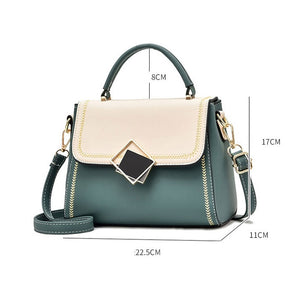 CB266 Wholesale color stitching women mini hand bag fashionable candy handbag