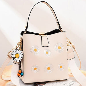 CB275 Fashion Bucket bag embroidery flower design wholesale handbag suppliers