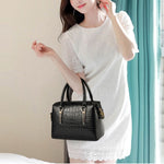 Load image into Gallery viewer, CB278 Crocodile pattern Large capacity black lady hand bag trendy fall handbags