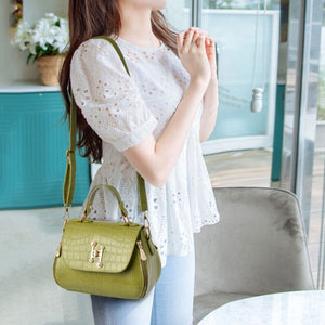 CB283 Fashion crocodile pattern PU leather shoulder sling bag
