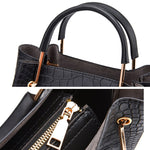 Load image into Gallery viewer, CB288 2020 New fashion crocodile pattern designer set handbag for women