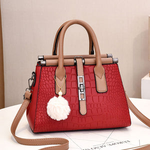 CB302 High quality fashion latest croc print ladies handbags wholesale low prices