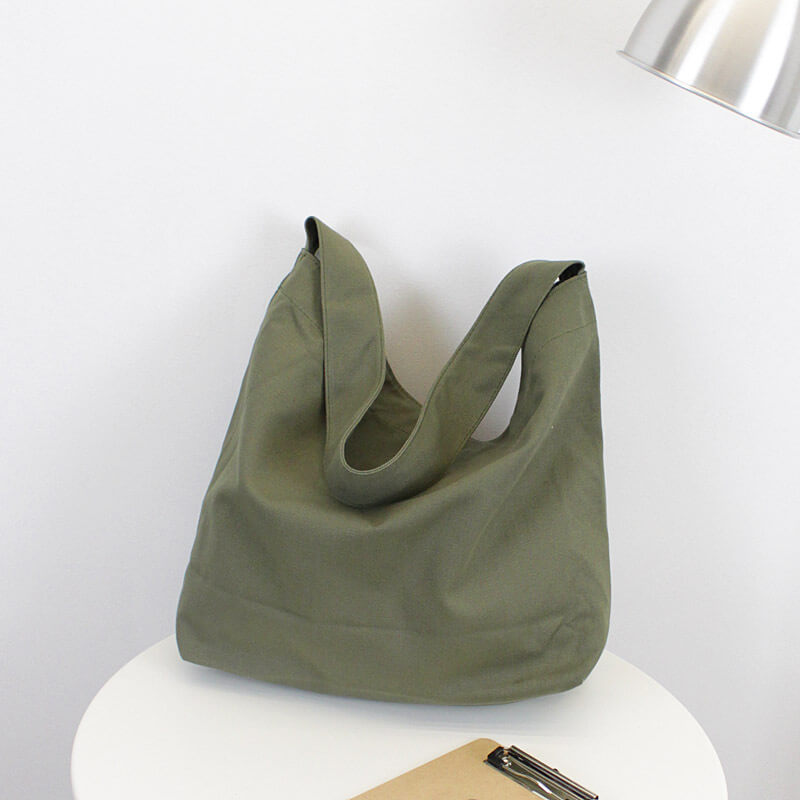 CG005 Hand-made large capacity women eco friendly shopping tote bag canvas