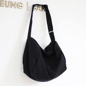 CG006 Wholesale women college plain canvas large tote bags shoulder handbag
