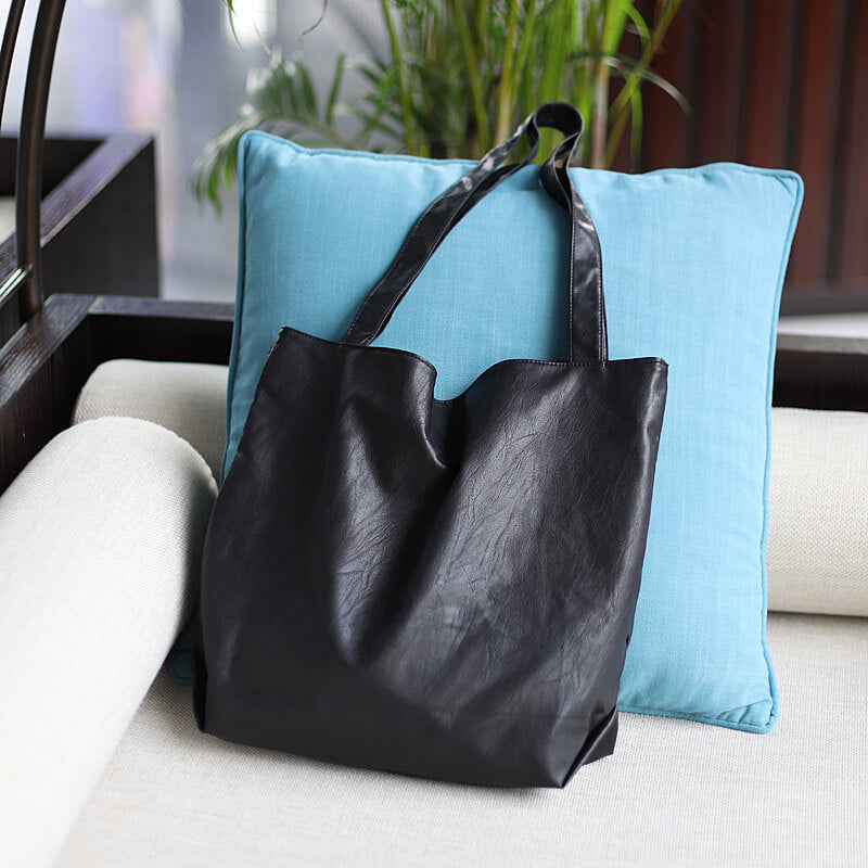 EG014 Wholesale fashion pu leather shoulder bags large casual handbags for women