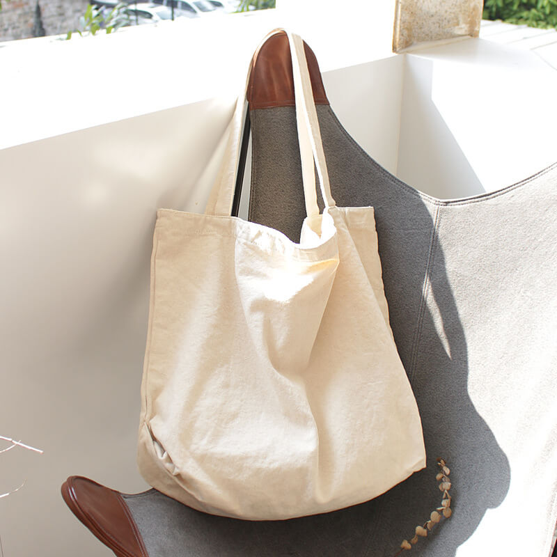 CG012 Custom high quality women large tote bag canvas shopping bag