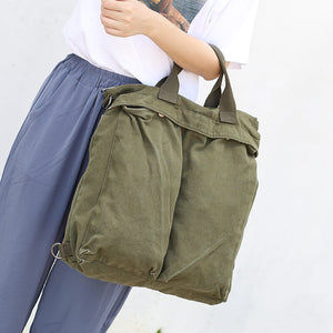 CG015 Simple plain student canvas women handbag woman backpack shoulder bag