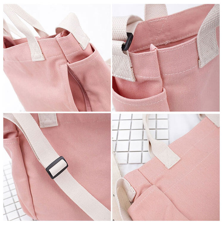 CG018 New simple cotton shoulder bag custom canvas crossbody bags for women