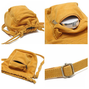 CG023 Wholesale fashion canvas women sling bag mini square crossbody bag