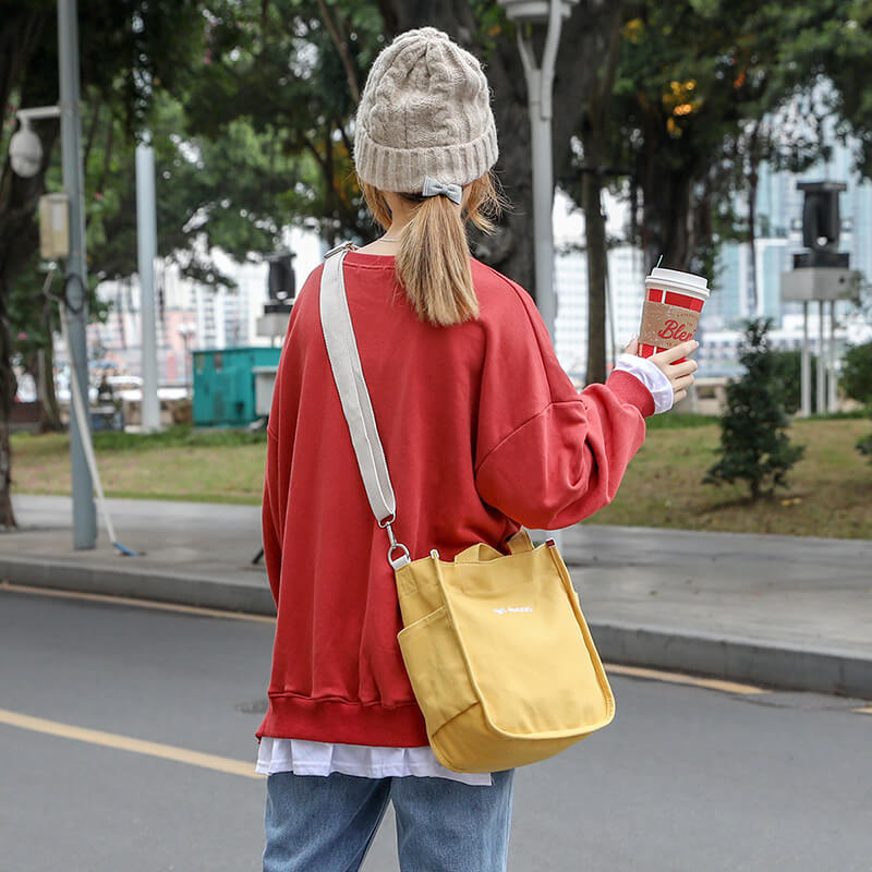 CG024 Hot sale fashion handbag custom logo canvas crossbody bag women