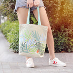 Load image into Gallery viewer, CG036 Fashion women reusable canvas tote bag cotton custom print shopping bag