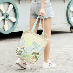 CG036 Fashion women reusable canvas tote bag cotton custom print shopping bag