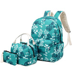 Load image into Gallery viewer, CVB002 Custom print waterproof student 3 in 1 set backpack and lunch bag for school