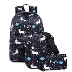 Load image into Gallery viewer, CVB017 China suppliers new unicorn design casual girl backpack kids school bags set 3 pieces