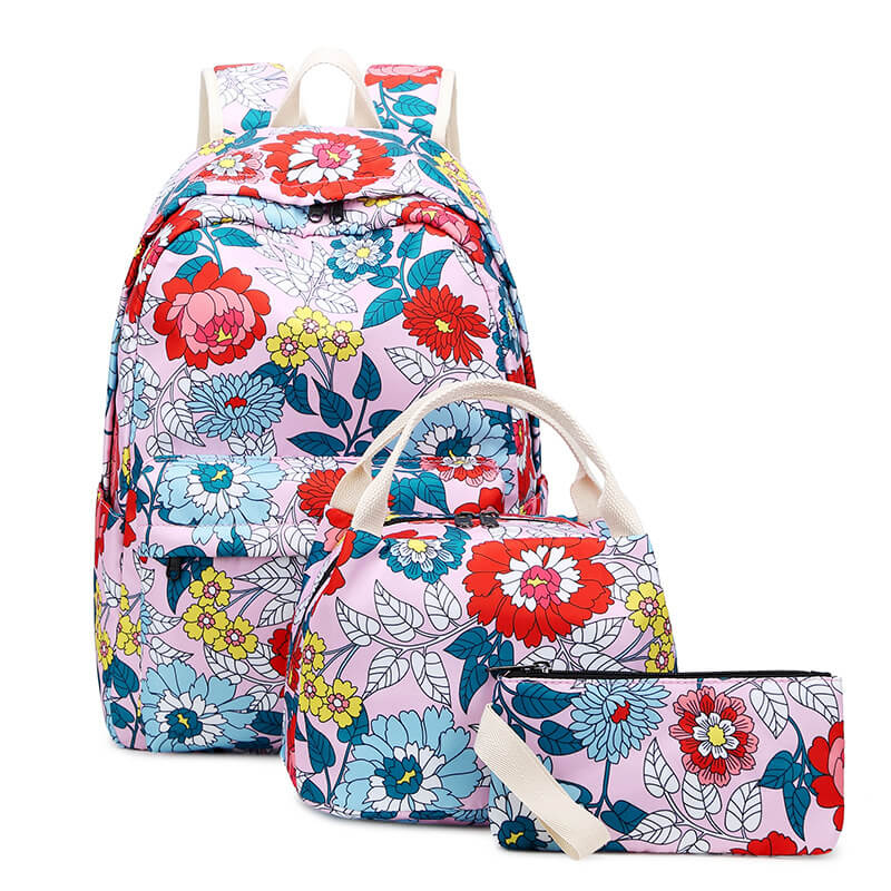 CVB020 New 2020 nylon waterproof students ethnic backpack children school bags for girls set