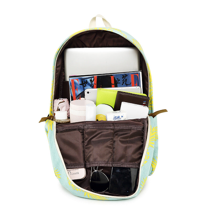 CVB022 Fashion canvas travel 3 in 1 school bags set backpacks for college girls