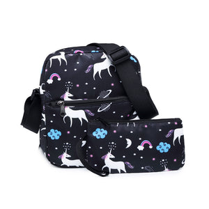 CVB025 Wholesale fashion print design girl shoulder bags custom messenger bags women