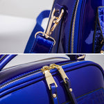 Load image into Gallery viewer, E3007 Hot sell fashion luxury design serpentine leather women handbag