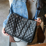 Load image into Gallery viewer, E3102 Classical design shoulder bags european style black handbags for women ladies