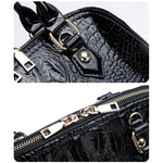 Load image into Gallery viewer, E3233 Fashion Crocodile shoulder bags shell shape pu leather handbag for women