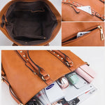 Load image into Gallery viewer, E3234 Wholesale Custom logo vintage big bag PU leather handbag women