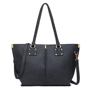 E3235 Online shopping large capacity handbag pu leather tote bag ladies shoulder bag