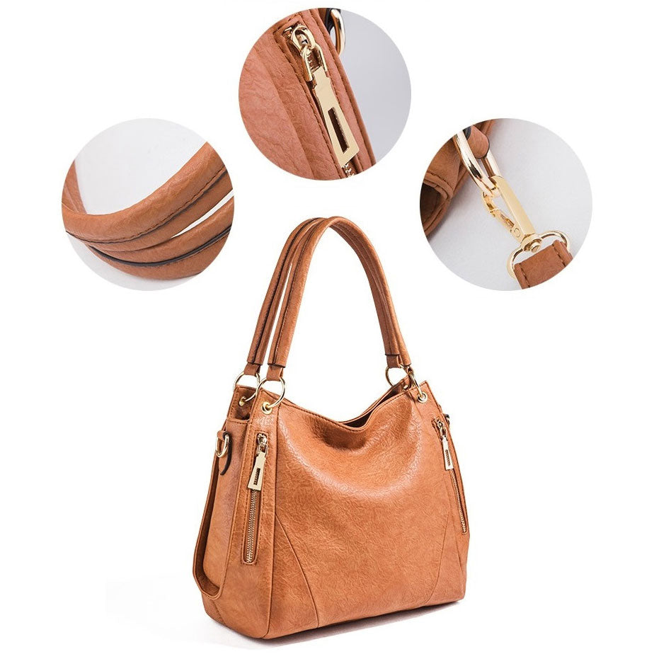E3238 Hot sale 2019 pu leather cheap fashion handbags shoulder tote bag for women