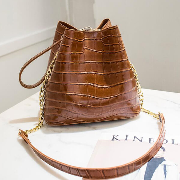 E3263 Wholesale high quality pu leather wrist bag fashion bucket handbag women shoulder bags 2019