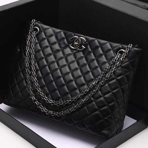 E3288-1 2020 new style fashion design handbag simple leather shoulder tote chain handbag