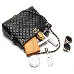 Load image into Gallery viewer, E3288-1 2020 new style fashion design handbag simple leather shoulder tote chain handbag