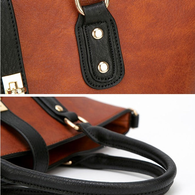 E3360 New PU leather high quality novelty design women office handbags