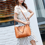 Load image into Gallery viewer, E3369 Popular designer pu leather shoulder bags woman brown handbags