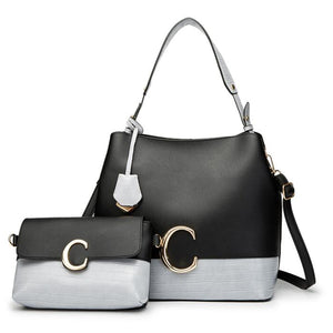E3388 Wholesale cheap latest elegance designer pu leather new model women 2 in 1 hand bag ladies custom purses handbags