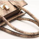 Load image into Gallery viewer, E3413 New style pu leather snake print 4 in 1 women bags set purses handbags ladies