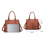 Load image into Gallery viewer, E3423 New arrival vintage style pu women handbags 3 set ladies hand bags sets