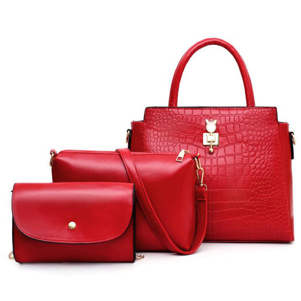 E3426 Wholesale cheap high quality handbags from china 3 pcs in one set bolsos mujer
