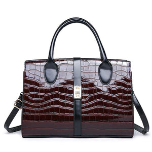E3432 High quality patent leather luxury hand bags women handbags ladies