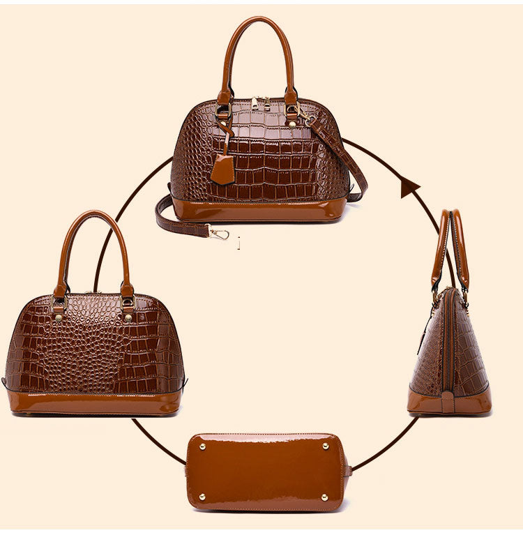 E3452 New 2020 trending crocodile PU leather women guangzhou custom logo handbag
